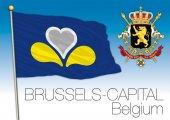 Photo Brussles Capital regional flag, Belgium