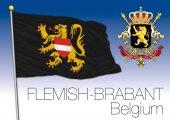 Photo Flemish Brabant flag, Belgium