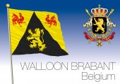Photo Walloon Brabant regional flag, Belgium