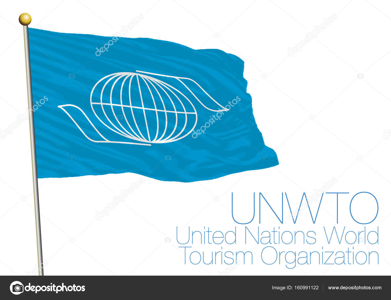 Unwto united nations world tourism organization flag and symbol unwto united nations world tourism organization flag and symbol stock vector buycottarizona Gallery