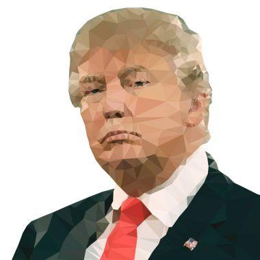 WASHINGTON, UNITED STATES, YEAR 2017, Donald Trump, US president, illustration and graphic elaboration portrait