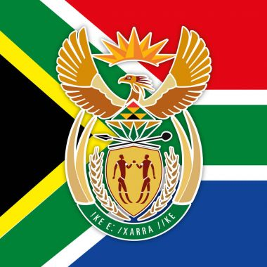 South Africa Coat of arms and flag
