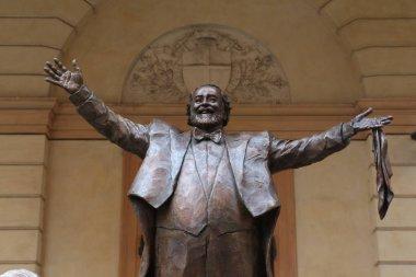 Luciano Pavarotti bronze monument, Modena, Italy