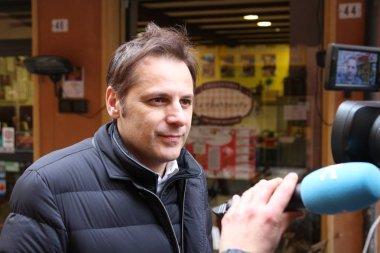 MODENA, ITALY, FEBRUARY 20, 2108 - Armando Siri, Lega Nord's political economy manager of Flat Tax