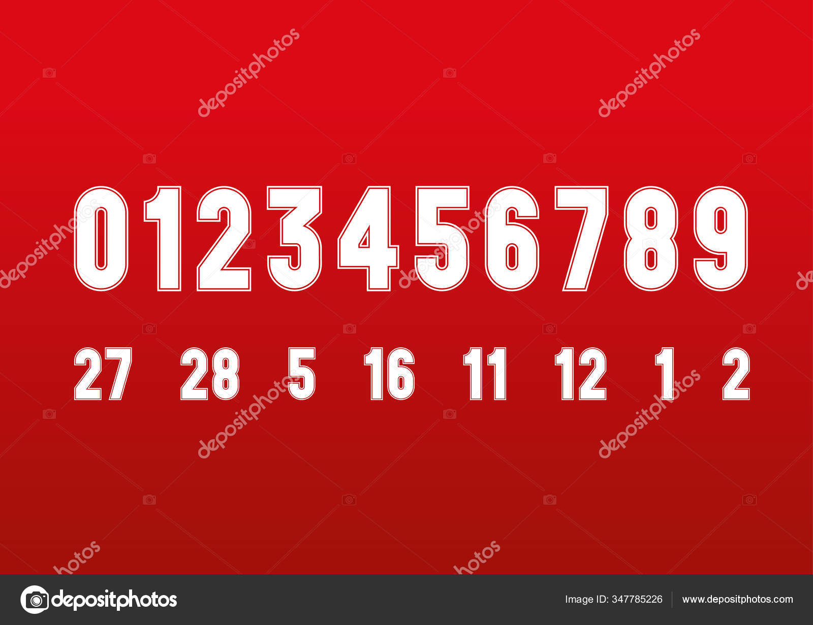 Vintage Style Ferrari Formula Race Numbers Font Red Background Vector Stock Vector C Frizio 347785226