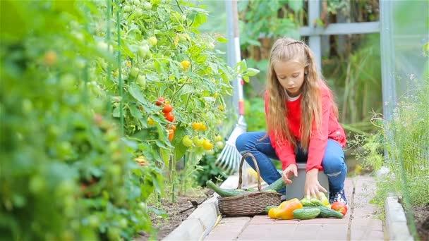 Rozkošná holčička ve skleníku v letním dni