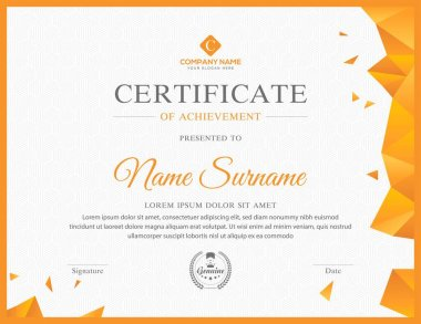 Creative multipurpose professional certificate template design for all types sectors