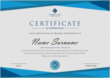 Creative multipurpose professional award certificate template design for all types company