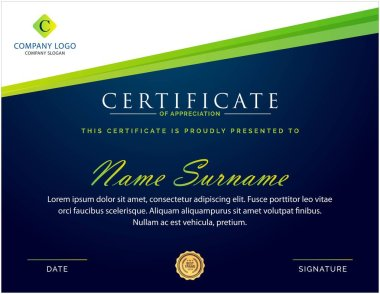 professional creative multipurpose certificate template design for all types company