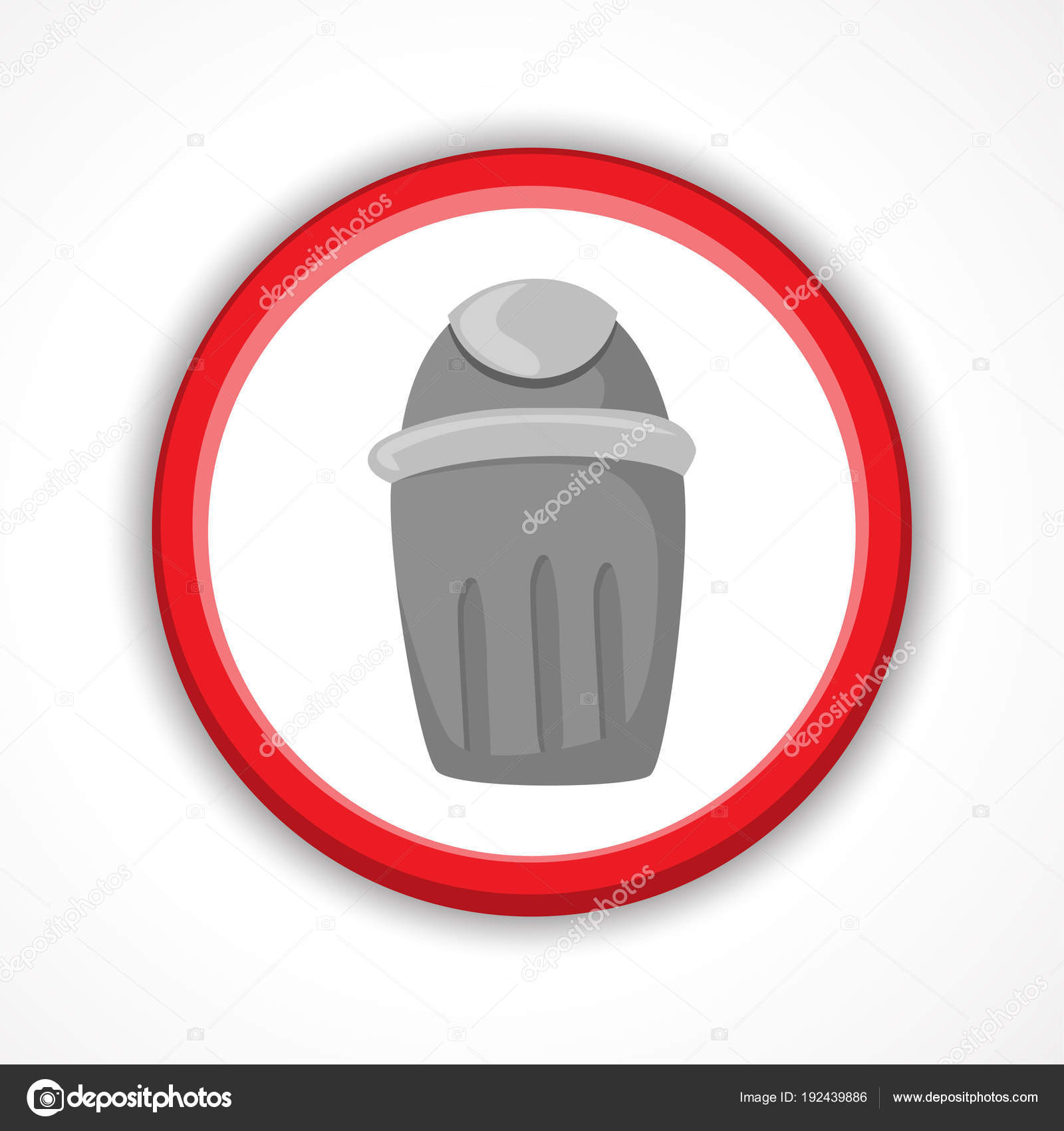 Trash Can Icon Bin Sign Garbage Vector Ilration Stock
