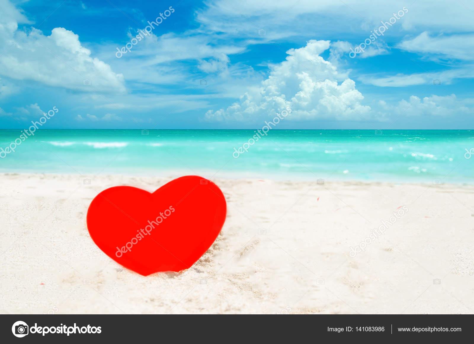 Valentine S Day Background On The Miami Beach Stock Photo
