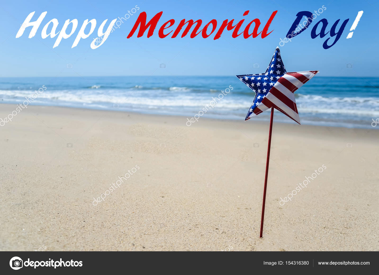 memorial day background on the beach — stock photo © ellensmile