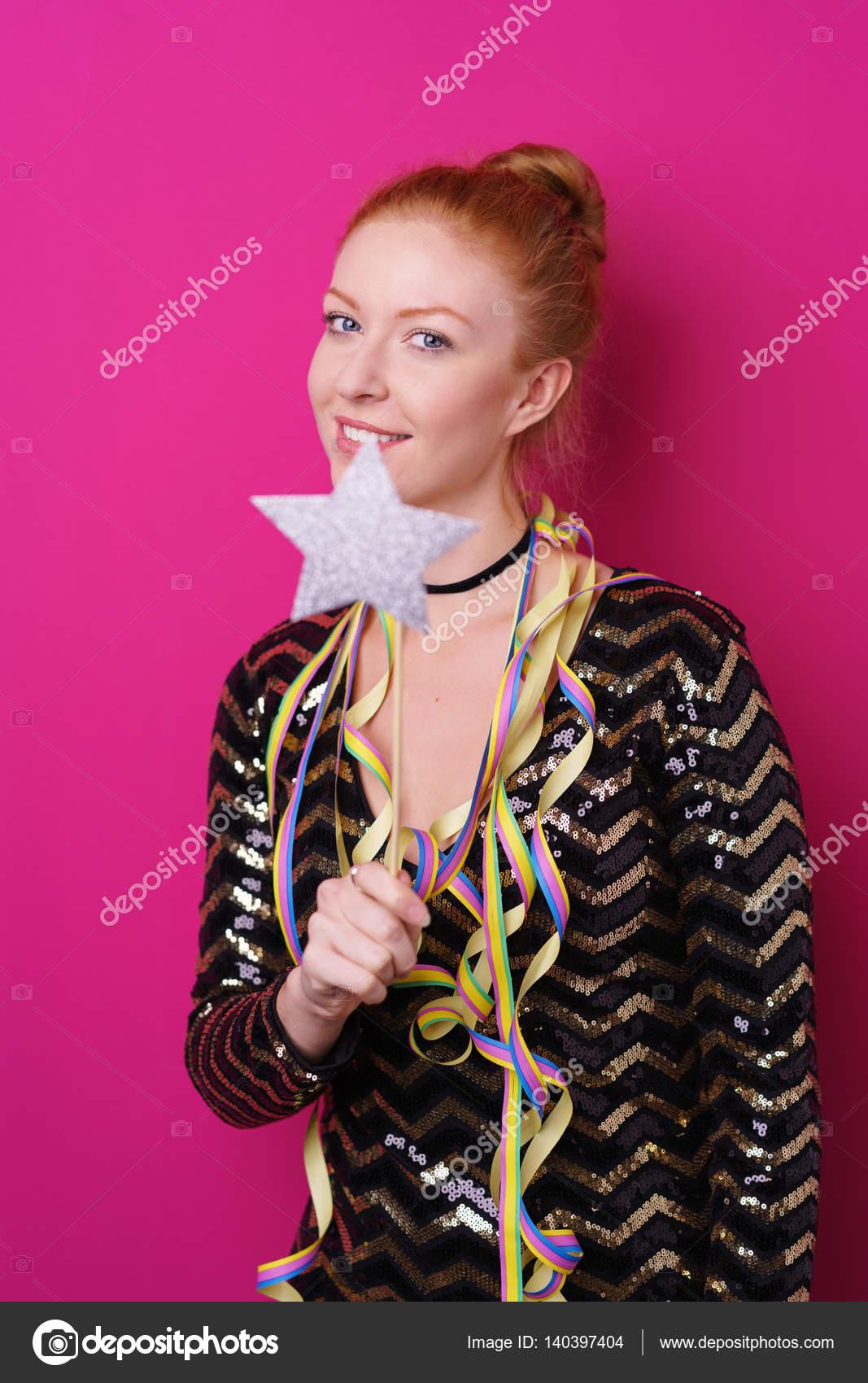 linda chica en vestido brillante — Foto de stock © racorn #140397404