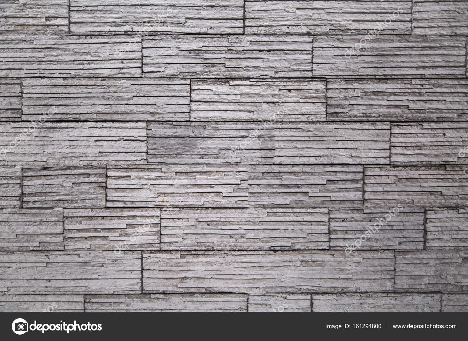 Hell Graue Wand Aus Stein, Horizontale Streifen U2014 Foto Von Oleksaj