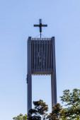 Fotografie Gemeinde Germering, Lkr. Fürstenfeldbruck, Oberbayern, Deutschland: Details zum Kirchturm von St. Martin