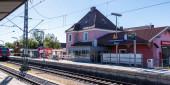 Gemeinde Germering, Landkreis Fürstenfeldbruck, Oberbayern, Deutschland: S-Bahnhof Germering-Unterpfaffenhofen