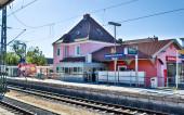Gemeinde Germering, Landkreis Fürstenfeldbruck, Oberbayern, Deutschland: Bahnhof, S-Bahnhof Germering der S-Bahnlinie s8