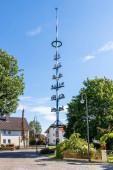 Gemeinde Germering, Landkreis Fürstenfeldbruck, Oberbayern, Deutschland: Maibaum, Maibaum in Unterpfaffenhofen