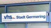 Municipal Germering, District Furstenfeldbruck, Upper Bavaria, Germany: Label of VHS Stadt Germering (Community Collage)