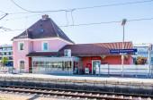 Municipal Germering, District Furstenfeldbruck, Upper Bavaria, Germany: Main Station of Germering-Unterpfaffenhofen
