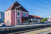 Municipal Germering, District Furstenfeldbruck, Upper Bavaria, Germany: Building of S-Bahnof Germering, Line S8