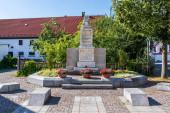 Municipal Germering, District Furstenfeldbruck, Upper Bavaria, Germany: Panorama of Ehrendenkmal Monument