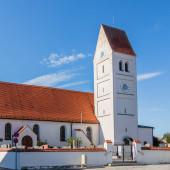 Municipal Germering, District Furstenfeldbruck, Upper Bavaria, Germany: Chruchyard and Church St. Jakob