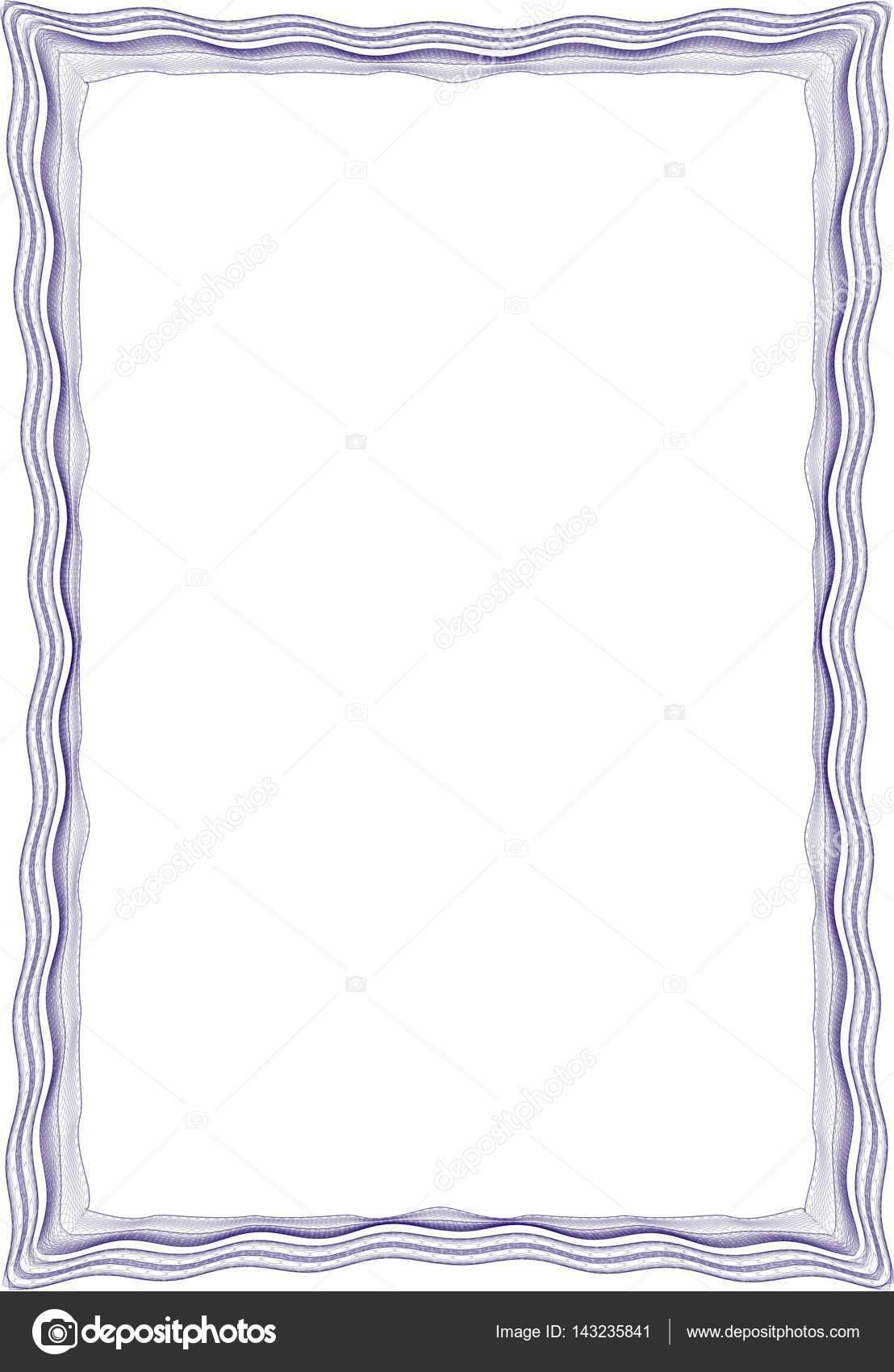 Frame leeren Vorlage für ein Zertifikat — Stockfoto © st481 #143235841