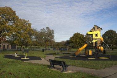 Children's Playground in Wickford Memorial Park, Essex, England