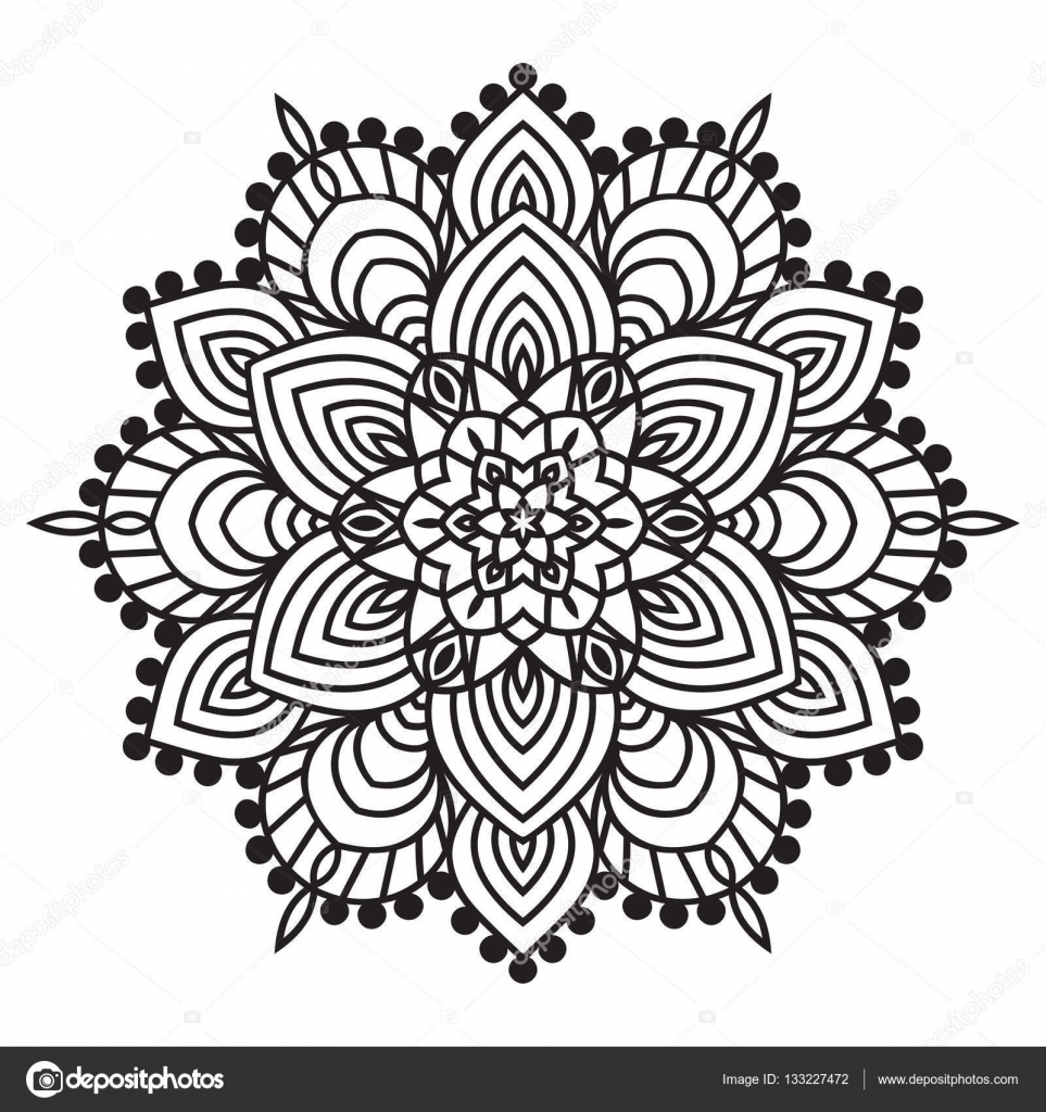 depositphotos_133227472 stock illustration hand drawing zentangle element black