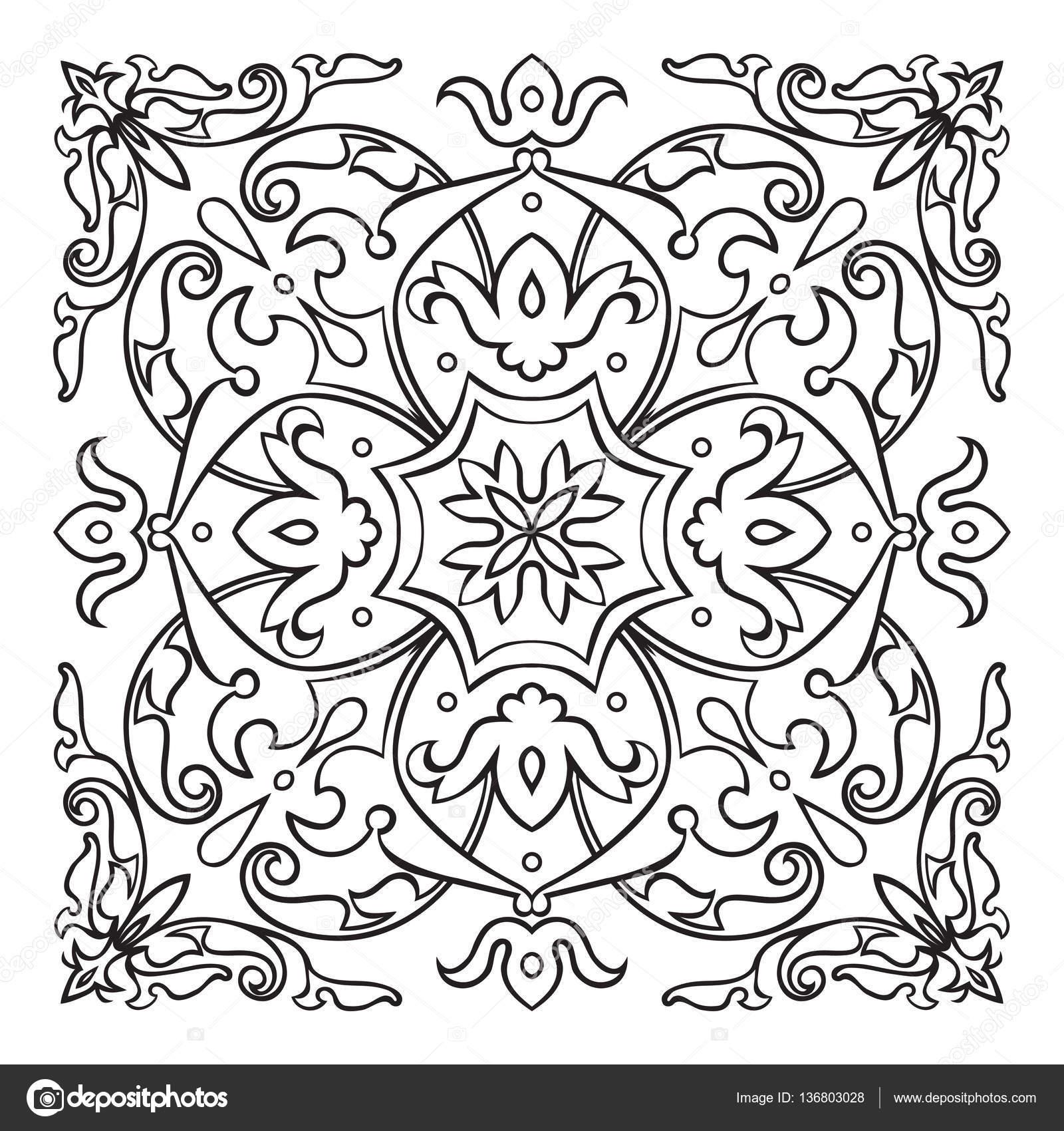 orientalische dekorative element zentangle mandala schwarz wei stockvektor zzayko 136803028. Black Bedroom Furniture Sets. Home Design Ideas