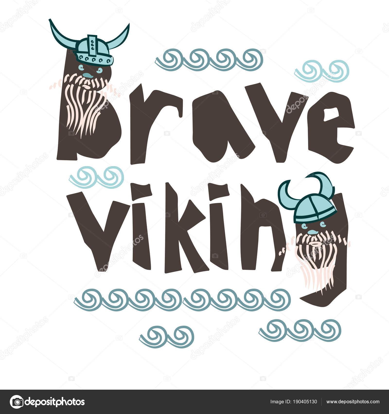 Tipografía los niños vikingos tema lema o cartel en fondo blanco ...