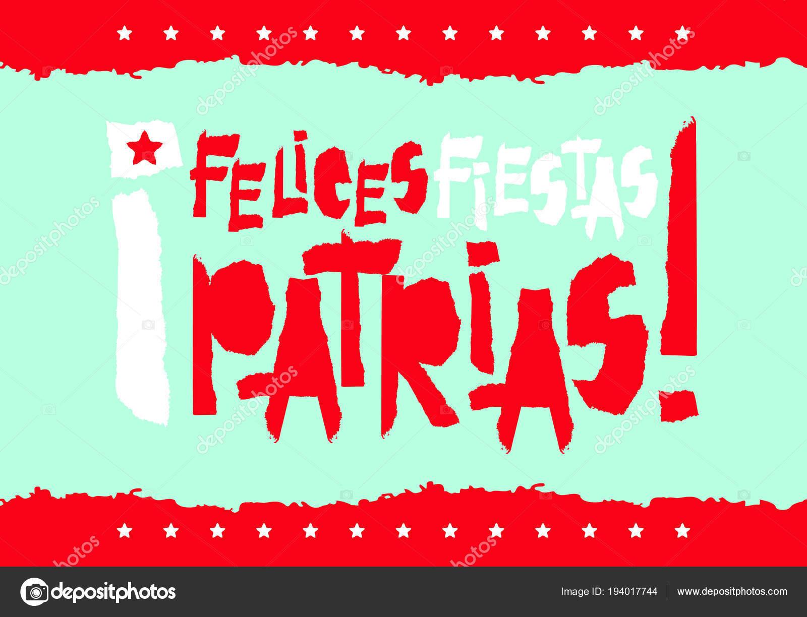 fotos fiestas patrias patrias fiestas plano diseño tarjeta con
