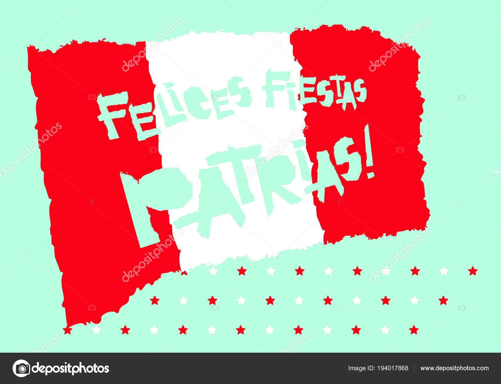 banner fiestas patrias peru patrias fiestas plano diseño tarjeta