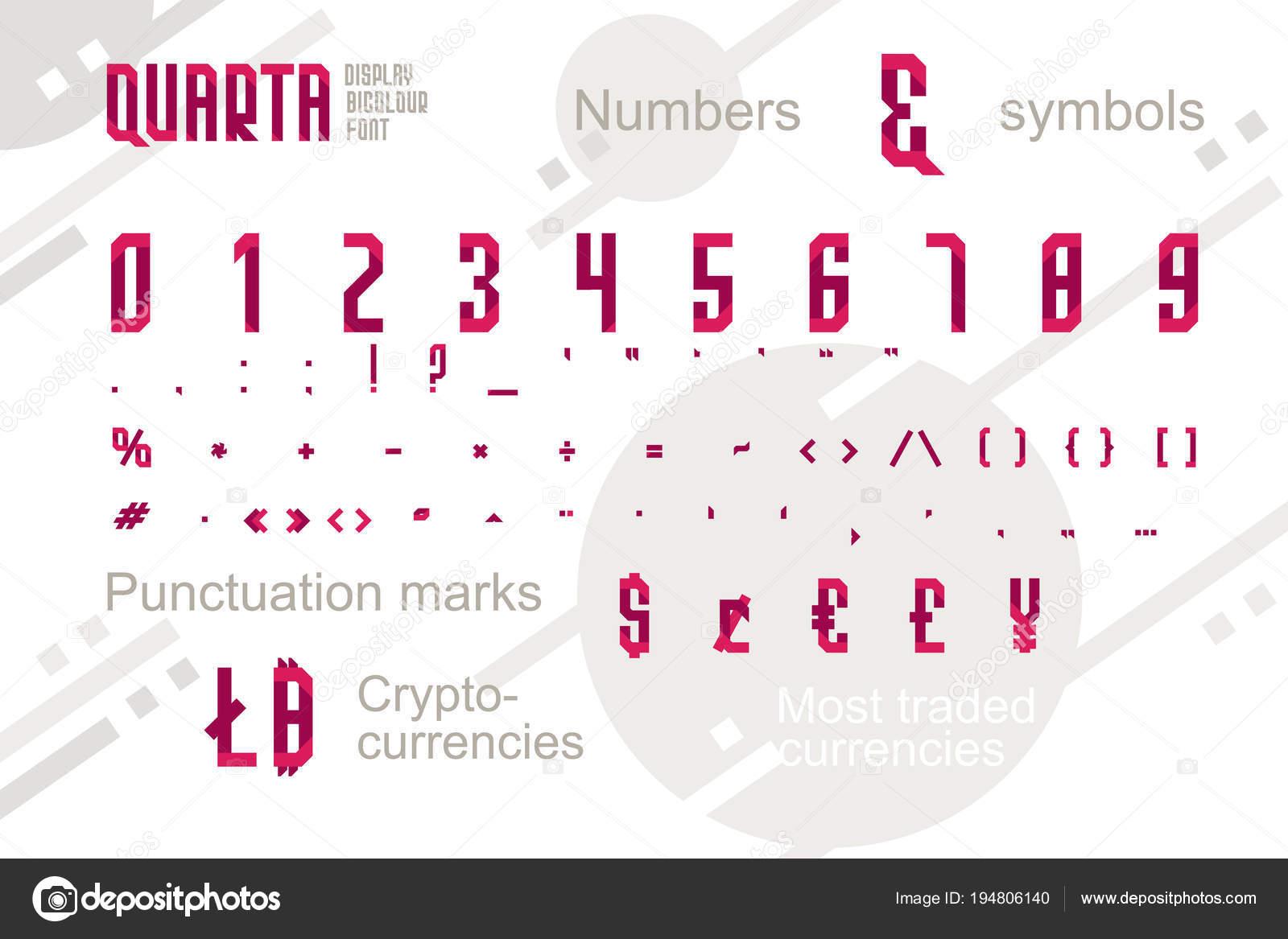 Suprematismo estilo decorativo alfabeto, tipo de letra. Fuente de ...