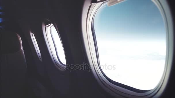 Pohled z letadla, koncept cestování
