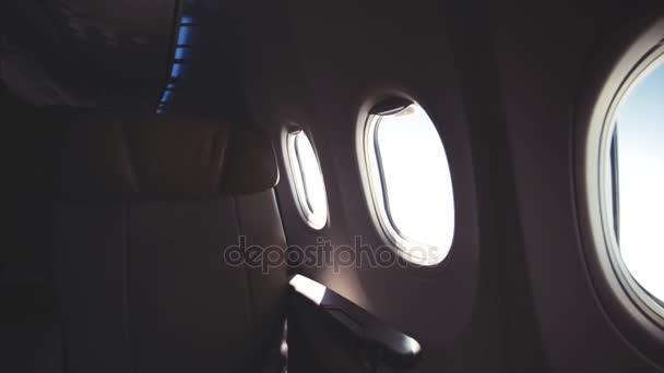 Kilátás repülőgépről, utazási koncepció