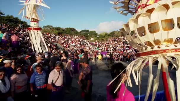 BALI, INDONESIA - JULY 10, 2019: tourists walking to Uluwatu temple and waiting for traditional Kecak dance of storyline from Ramayana Hindu epic