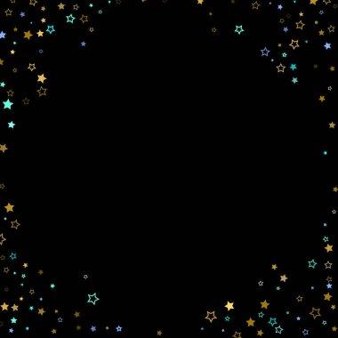 Gold, Blue stars, sprocket, shiny confetti.