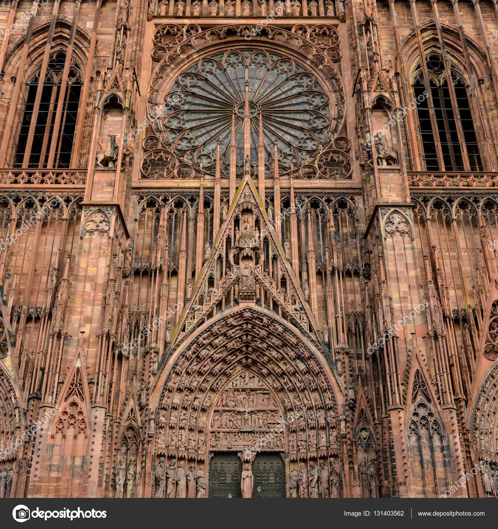 Architecte Bas Rhin cathedral notre dame of strasbourg, bas rhin, alsace — stock