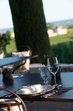 Gastronomy-Restaurant - Luxury -Terrace in summer - Vineyard