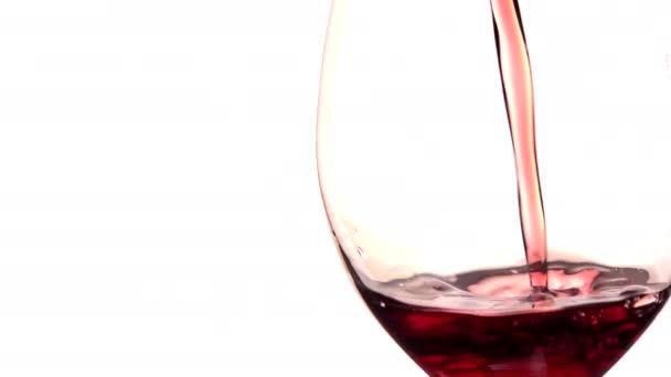 Vörös bort öntenek üveg fehér háttér