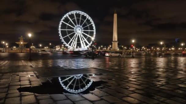 Timelapse Concorde Square, Place de la Concorde v Paříži, Francie