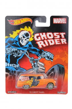 Marvel Ghost Rider 1955 Chevy Panel Hot Wheels Diecast Toy Car