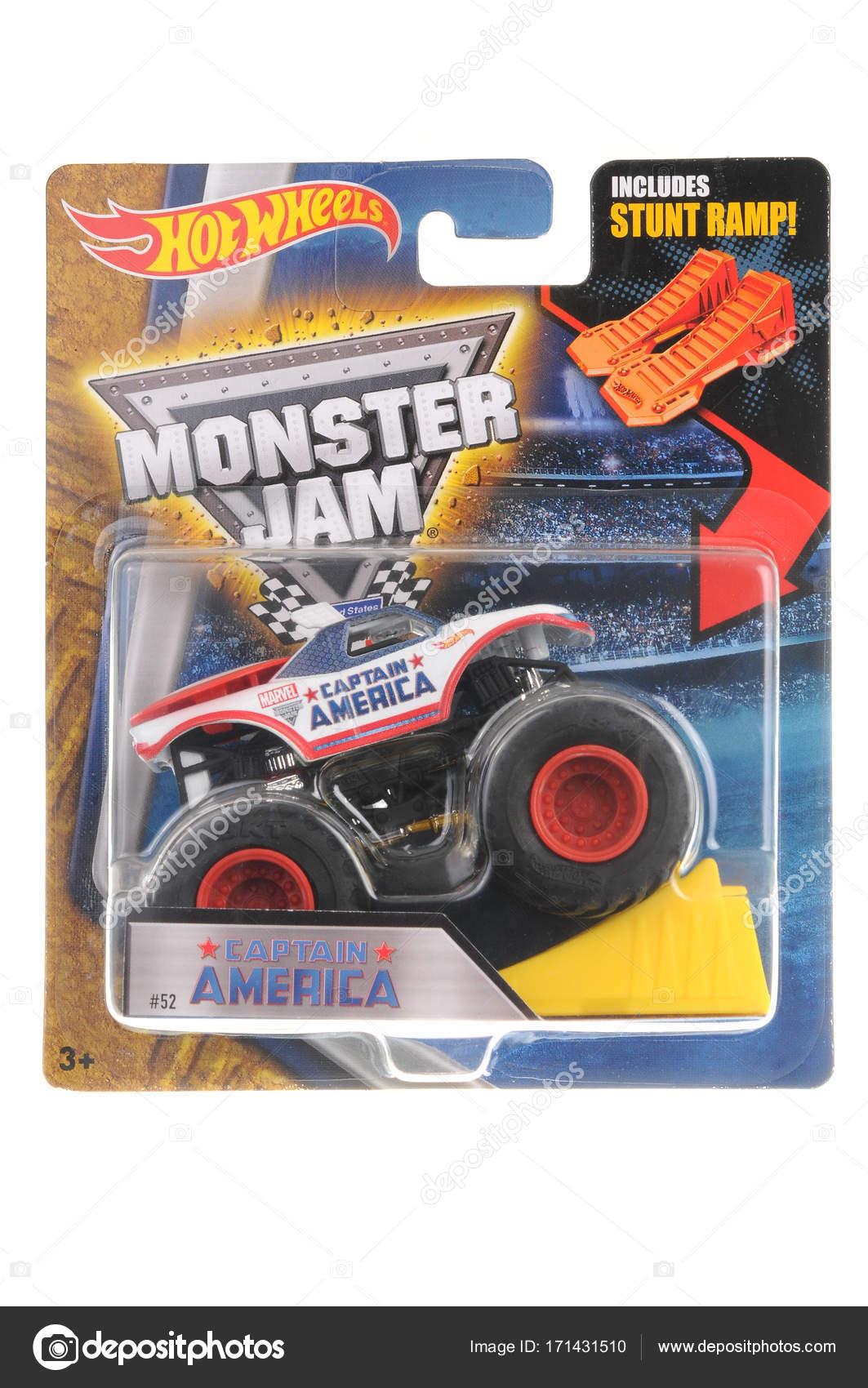 América Troquel Monster Truck Wheels Capitán Fundido Juguete Hot A rCtdxsQh