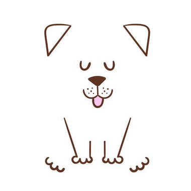 Vector illustration with dog