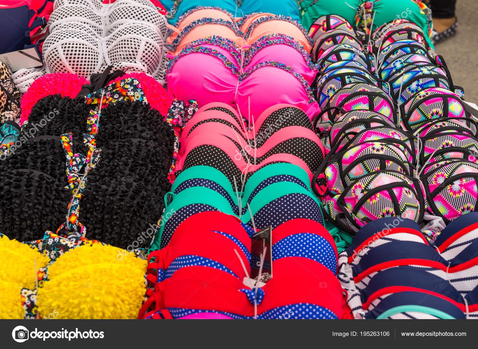 fb754446619 Many Bras Sale Farmers Market Village Tymbaki South Central Crete — Stock  Photo
