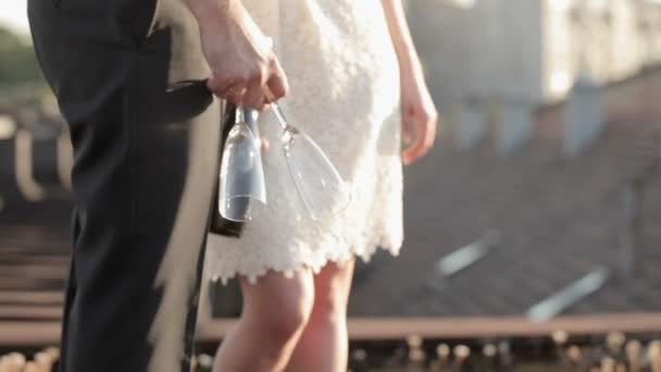 Ehepaar mit Champagner
