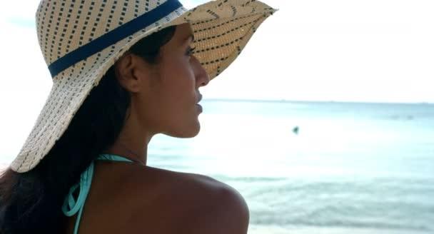 Beautiful woman sunbathing