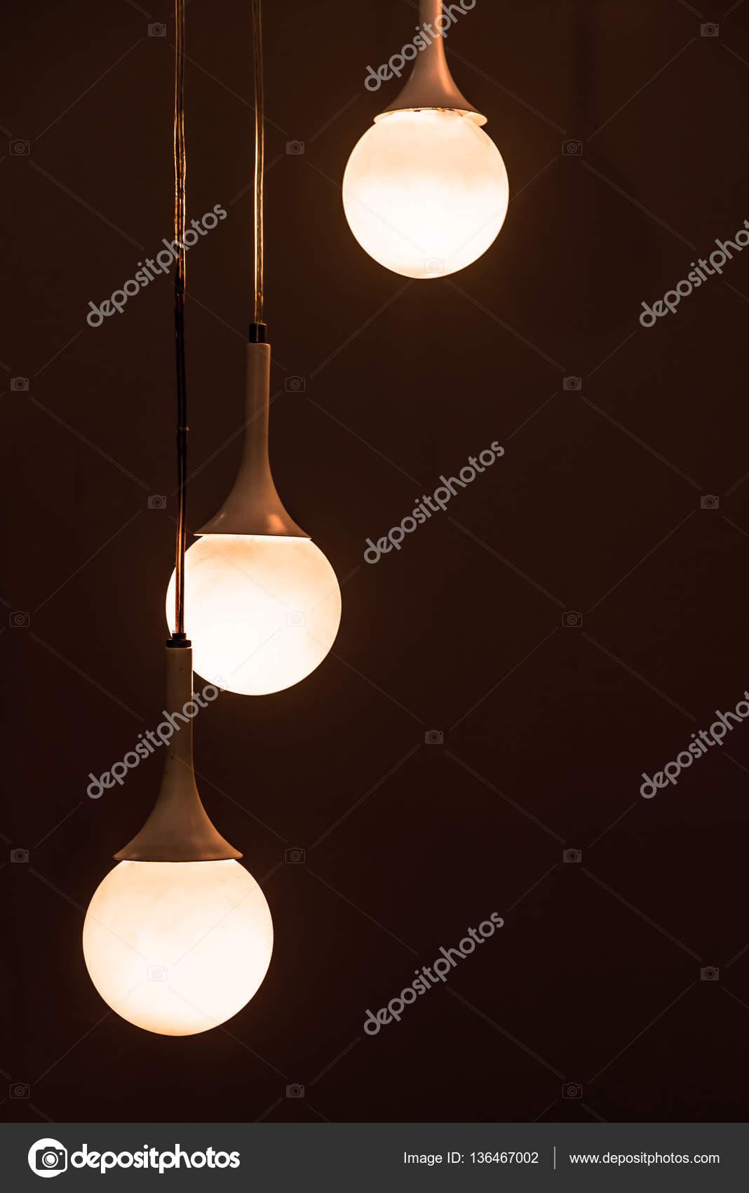 prachtige vintage verlichting decor voor het bouwen van interieurs stockfoto